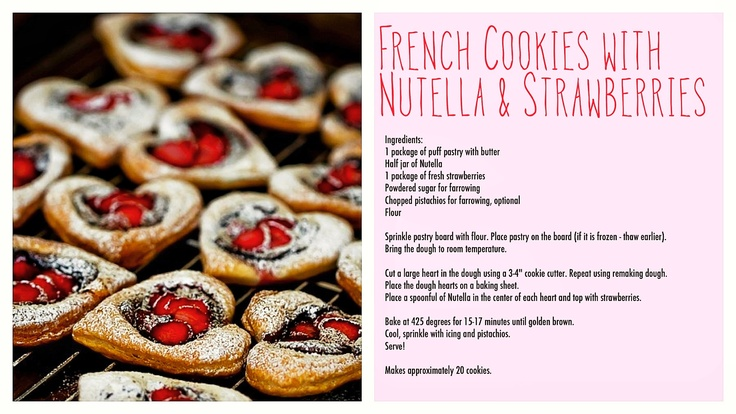 These French Cookies with Nutella and Strawberries are sure to be a hit at any Christmas party this year. Check out this easy recipe that goes along with it!    #recipe #nutella
