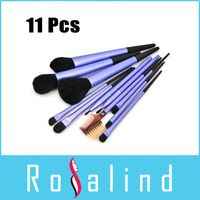 Rosalind Envío Gratis 11 PC / Set de maquillaje púrpura Cepillos Nueva llegada de la alta calidad 11 PC púrpura de cepillo del maquillaje