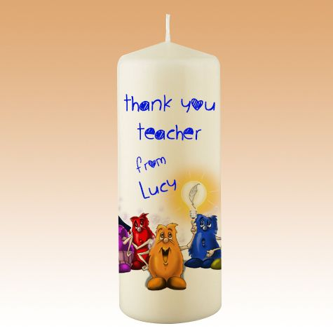 Teacher CANDLES - Beeflowers.net  Our personalized teacher candles