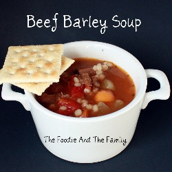 Barley Soup using leftover roast beef and fast cooking pearl barley ...