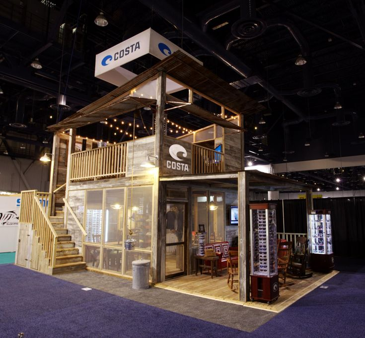 makai double decker two story trade show booth expo booth