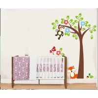 Monkeys and Flowers Tree decal. Wall stickers are available at www.kidzdecor.co.za. Free postage throughout South Africa