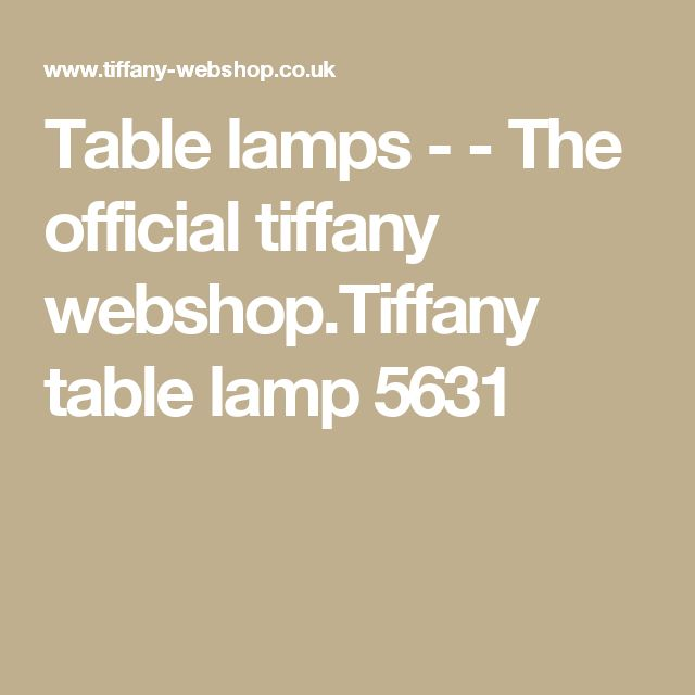 Table lamps - - The official tiffany webshop.Tiffany table lamp 5631