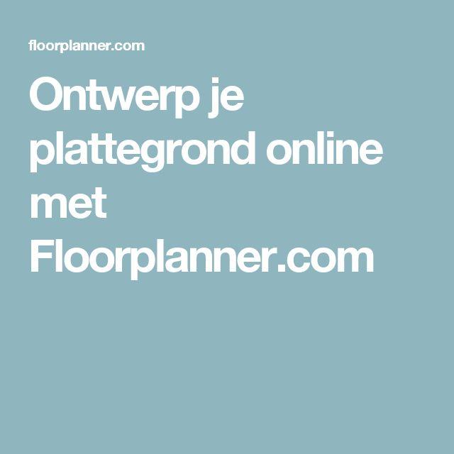 Ontwerp je plattegrond online met Floorplanner.com