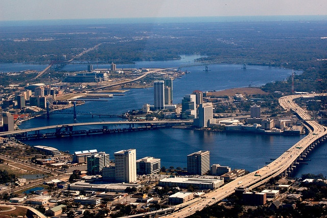 Downtown Jacksonville and the St. Johns River.