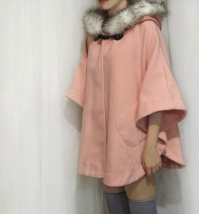 Pink Hooded Cape by Madame Soufflé | Sweet & Pink | Pinterest