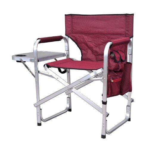 Stylish Camping SL1204BUR Full Back Folding Director's Chair. For product & price info go to:  https://all4hiking.com/products/stylish-camping-sl1204bur-full-back-folding-directors-chair/