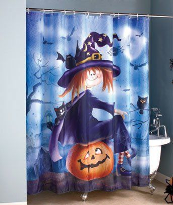 Halloween shower curtain sets are a lot of fun to add into your bathroom  decor for October and the Fall season  Put them up in your guest bathrooms  as well. 17 Best ideas about Halloween Bathroom on Pinterest   Halloween