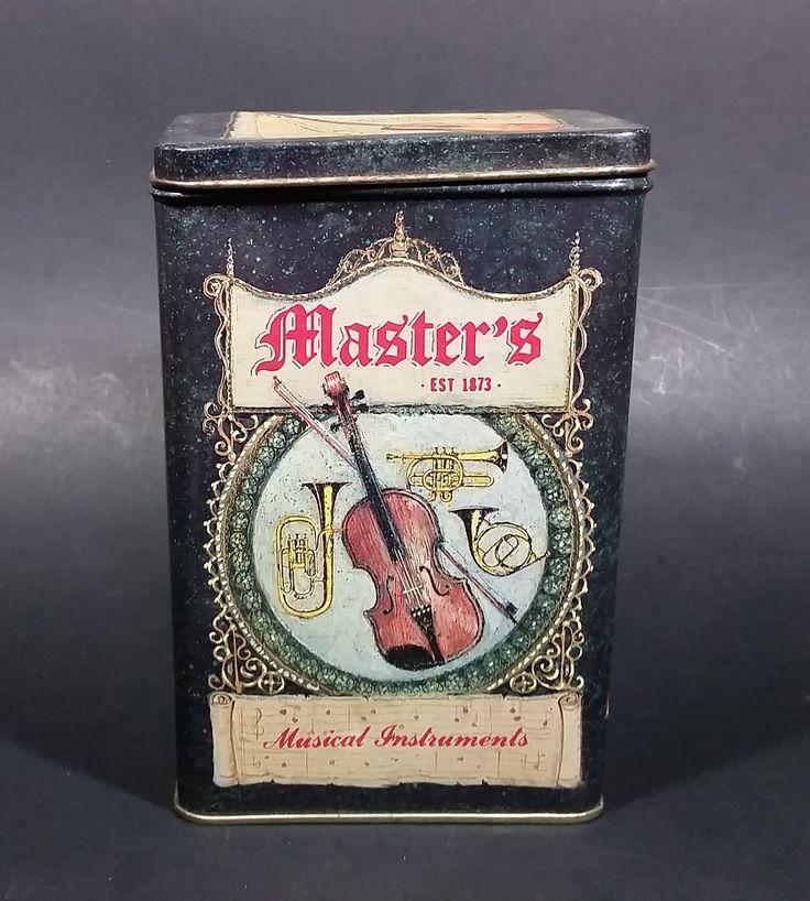 Vintage Charles Keller Master's Est 1873 Musical Instruments Biscuit/Coffee/Tea Decorative Tin https://treasurevalleyantiques.com/products/vintage-charles-keller-masters-est-1873-musical-instruments-biscuit-coffee-tea-decorative-tin-empty #Vintage #CharlesKeller #Philadelphia #Masters #Est1873 #Musical #Instruments #Decorative #Decor #Biscuits #Tins #Violins #Guitars #Trombones #Saxophone #Trumpet