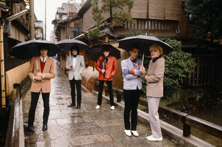 JAPAN in Kyoto, Japan, 1981. These bizarre photos show the world's biggest rock stars as tourists in 1970s Japan