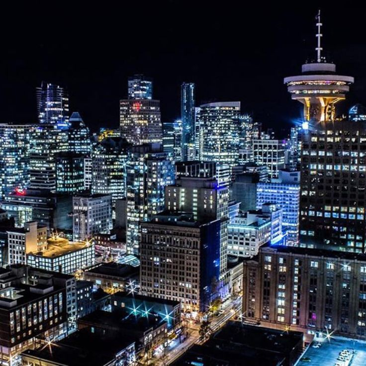Night View Of Vancouver Lookout