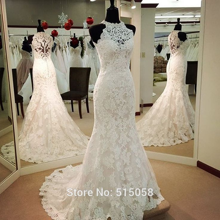 #weddinggowns #mermaidweddingdress #lace wedding #vintagewedding #wedding dress #halter wedding dress #elegant #romantic #vestidosdenoiva #robedemariee #abitodasposa #weddingdresses2017 #bride #bridal #bridalgowns #elegance