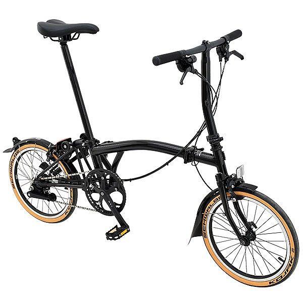 Brompton S6l 2019 Black Edition Folding Bike Black Gloss Sepeda
