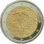 "Finland bijzondere 2 Euromunten - Finland 2 Euro 2008 ""60 jaar Mensenrechten"""