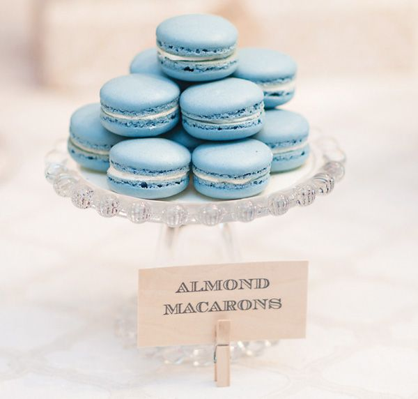 blue macarons and other fancy boy shower ideas