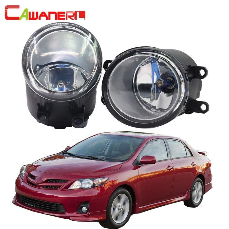 Cawanerl For Toyota Corolla 2009-2015 100W Car Halogen Bulb Fog Light Daytime Running Lamp DRL High Power 2 Pieces