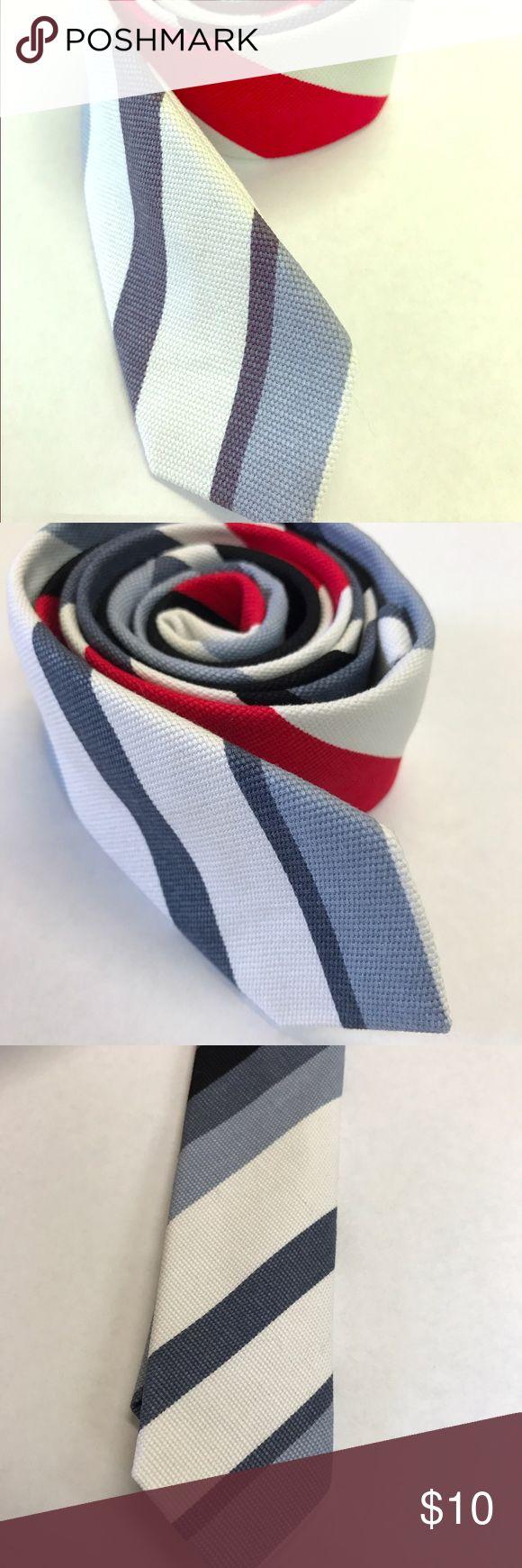 Ultra Thin Skinny Neck Tie Necktie Stripped Gray Great trendy ultra thin skinny necktie! Unbranded Accessories Ties