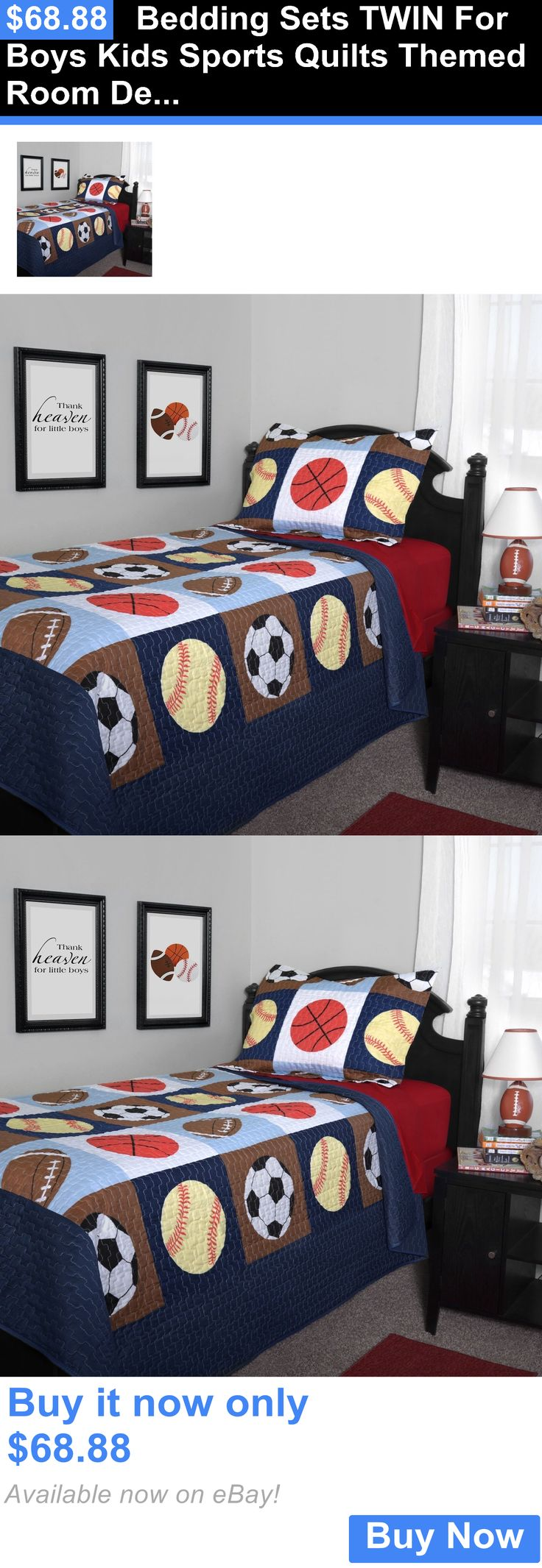 Kids at Home: Bedding Sets Twin For Boys Kids Sports Quilts Themed Room Decor Bedroom Bed 2Pcs BUY IT NOW ONLY: $68.88