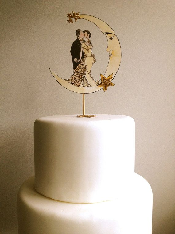 Art Deco Moon Cake Topper : Best 25+ Art deco cake ideas on Pinterest Art deco ...