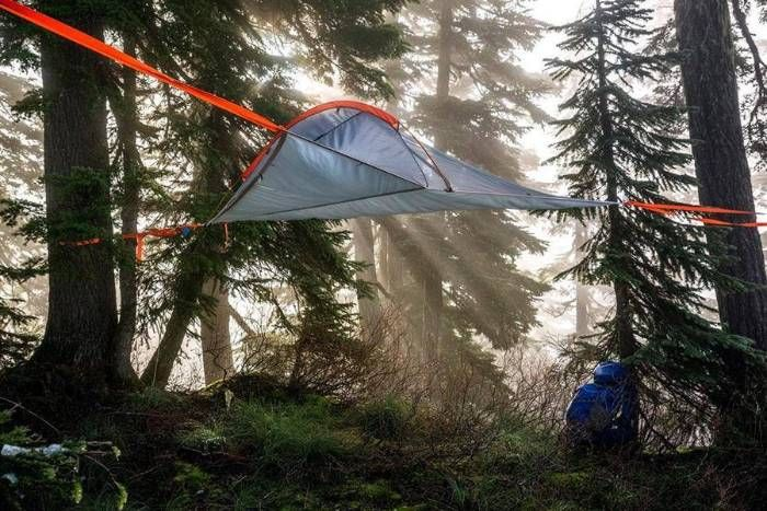 Stay off the ground and keep dry. With this Hammock #camping # tent. you can hang it in the forest and sleep very comfortable