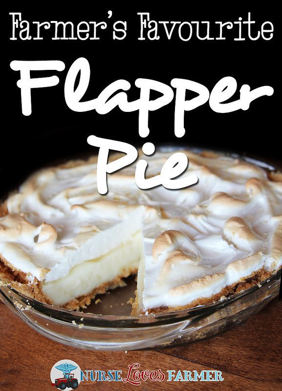 Farmer's Favourite Flapper Pie. Flapper pie is unique to the Canadian prairies, but is a classic that is served throughout farming season (or any time!). Buttery graham cracker crust, vanilla custard topped with meringue. Very messy, but very delicious!