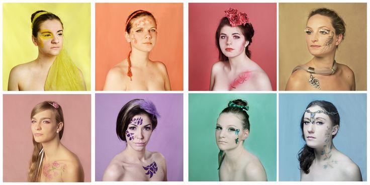 Série Mask, portrait haut en couleur de plusieurs jeunes femmes