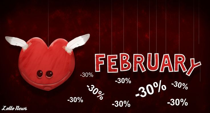 We offer amazing 30% discount for Valentine`s Day!  euro-lottery.org