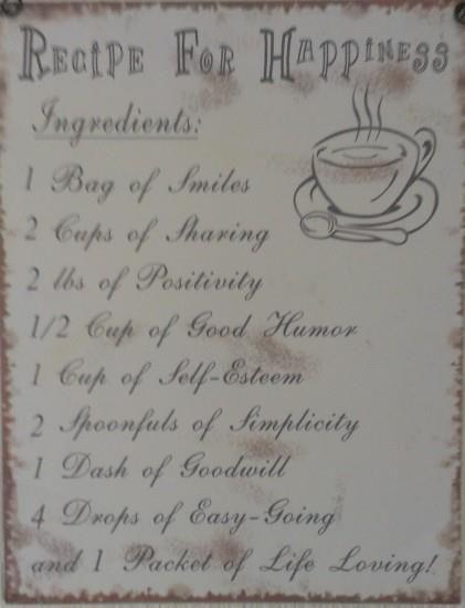 recept voor geluk
