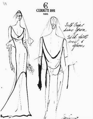 Carolyn Bessette Kennedy's wedding dress...I remember reading about their wedding and loving her dress so much.