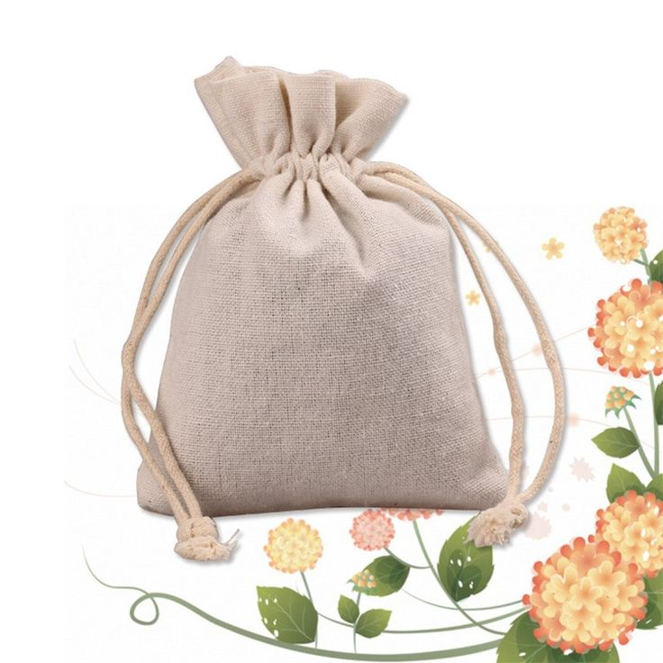 Cheap Linen Storage Bag Jute Sack Empty Sachets Small Calico Bag Drawstring
