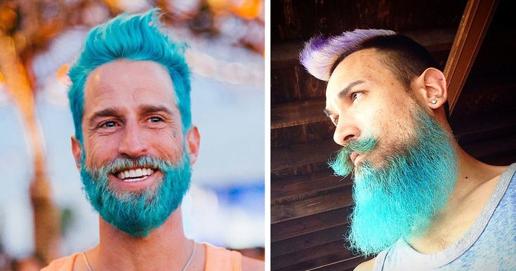 I love pretty much everything about this. Merman Trend: Men Are Dyeing Their Hair With Incredibly Vivid Colors   Bored Panda