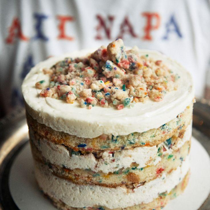funfetti crumble cake