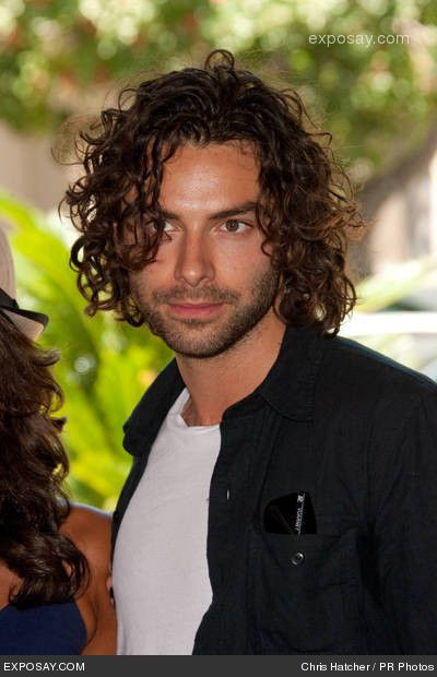 Aidan Turner (Being Human). ...who bears a striking resemblance to Michael Hutchence. mrrrrow!>>i'd sell an non-vital organ to touch his hair negl