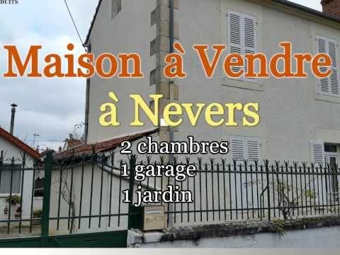 A vendre Maison à Nevers dans la Nièvre en France avec 2 chambres, jardi...