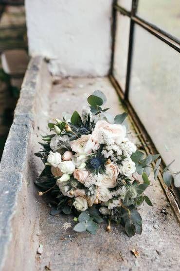 bouquet romantico bianco
