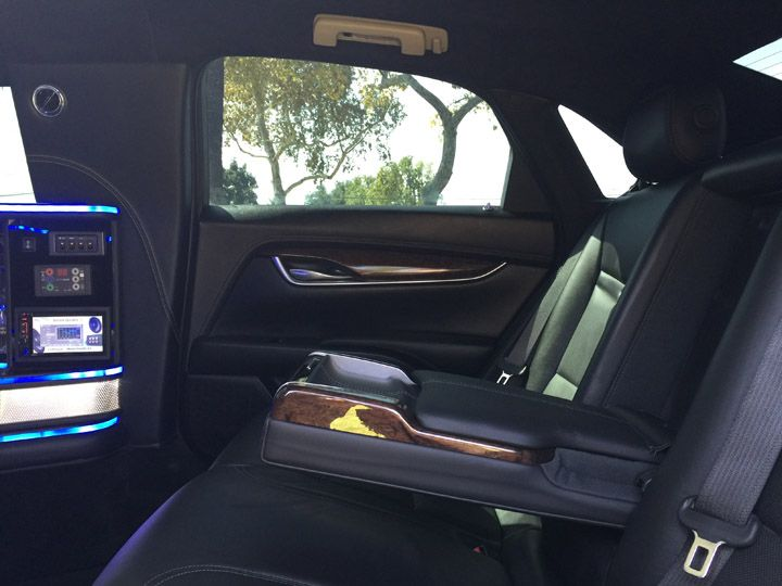 Our Newest Edition to Uber Luxury Transportation 2016 Cadillac XTS Corporate Limo 6 Passenger interior