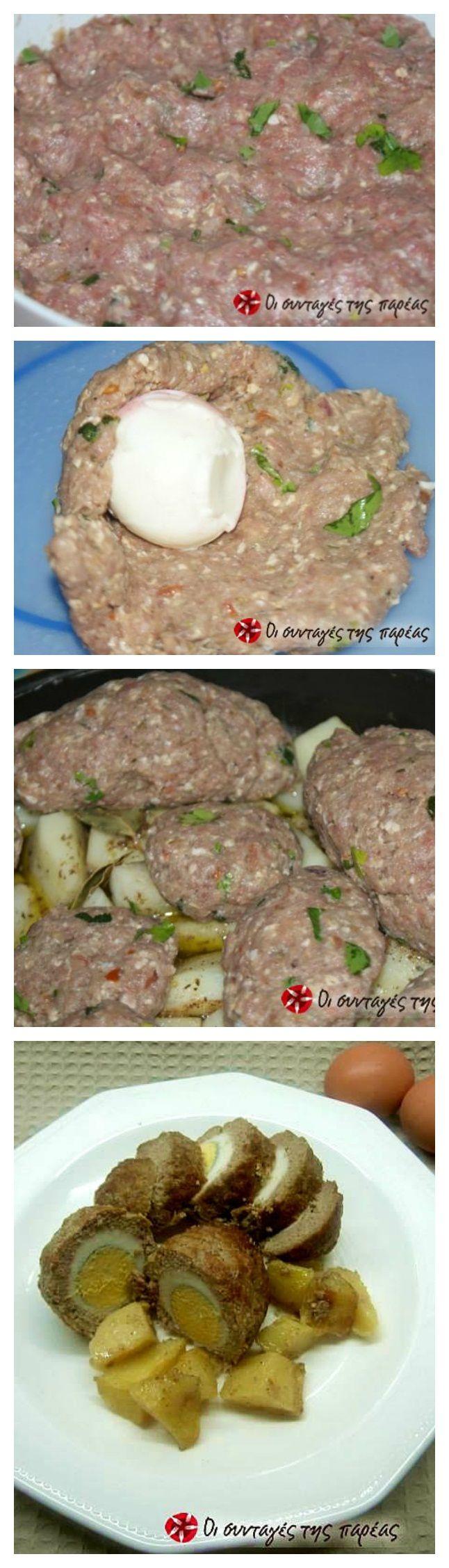 Ατομικά ρολάκια με πατάτες στο φούρνο #sintagespareas #rolakiamepatates