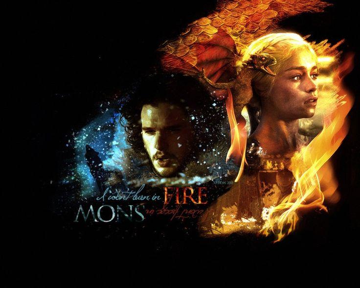 Jon Snow & Daenerys Targaryen #GameofThrones #JonSnow