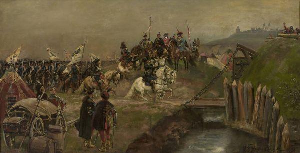 Defilada wojsk austriackich przed Janem Sobieskim - Wojciech Kossak