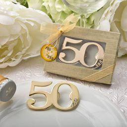 Metal 50th Birthday Bottle Opener