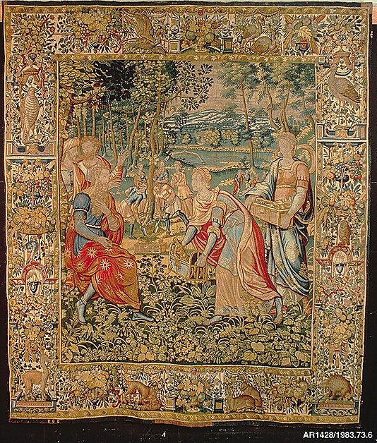 Woven by CT or TC, Brussels. Jacob Burying Idols under an Oak Tree, from The Story of Jacob series, 1550–75. The Metropolitan Museum of Art, New York, Bequest of Amy Warren Patterson, 1981 (1983.73.6) #tapestrytuesday