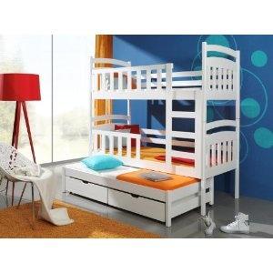 hochbett etagenbett kinderbett stockbett viki f r 3 personen aus kiefernholz hergestellt in den. Black Bedroom Furniture Sets. Home Design Ideas