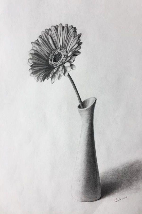 Картинки натюрморт карандашом цветы думаю, что