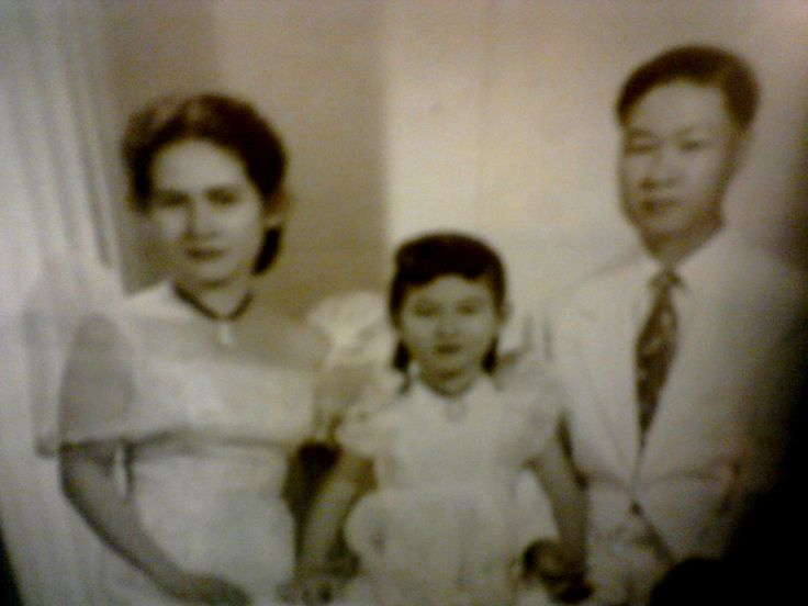 L to R: Auntie Sylvia T.Rojas , Grace Rojas (their daughter who passed away in 1973) and Deomedes Rojas ( died Sept. 3, 1989)..shown here in the 50s.