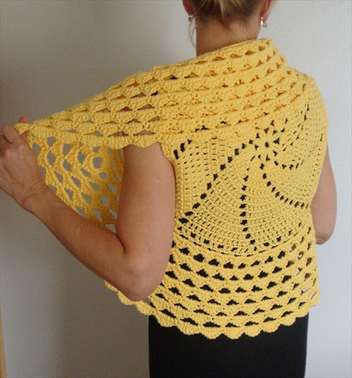 Circular Shrug Crochet Pattern for Beginners