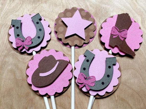 Cowgirl Candy Cups & Cupcake Toppers Cowgirl Baby Shower