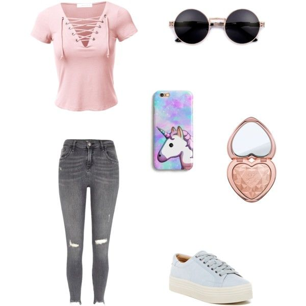 Bez tytułu #79 by wiki208 on Polyvore featuring moda, River Island, Marc Fisher LTD and Too Faced Cosmetics