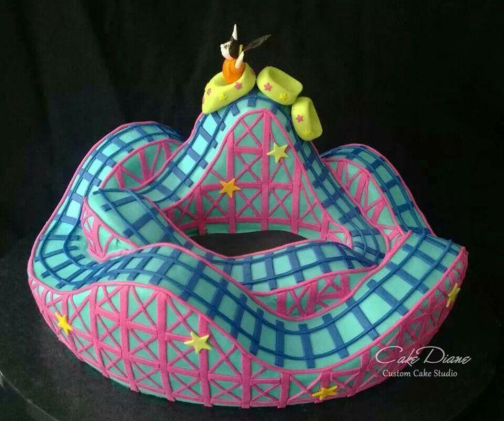 21 Best Roller Coaster Cake Images On Pinterest Roller
