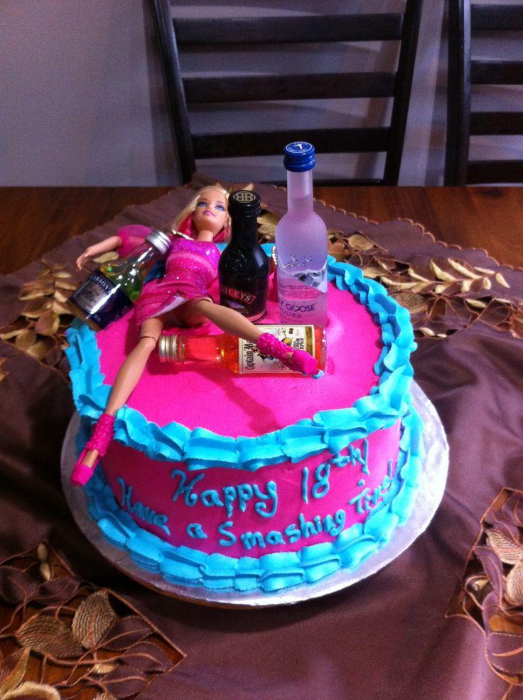 Drunken Barbie Cake Unique Cakes By Monique 21st