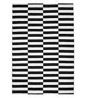 Koodi Sektori-puuvillamatto, musta-valkoinen | Puuvillamatot | Hobby Hall 99,90